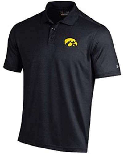 Under Armour Iowa Hawkeyes Mens Black Performance Polo Shirt (XL=48)