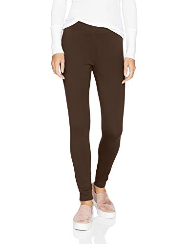 Amazon Essentials Women's Ponte Legging, brown, Large Regular