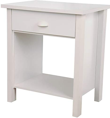 (Hebel 1 Drawer Night Stand Nouvelle Bedroom Furniture - 5 Colors New   Model DRSSR - 459  )