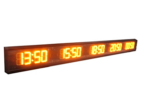 - AZOOU LED 5 Time Zones Clock