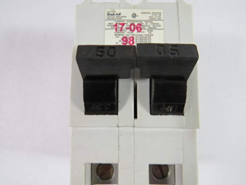 1- Federal Pacific NA250 Circuit Breakers 2-pole 50A NA STAB-LOK FULL SIZE