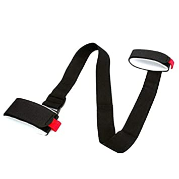 Ski Pole Shoulder Hand Carrier Lash Handle Buckle Straps Hooks Loop Easy Carry