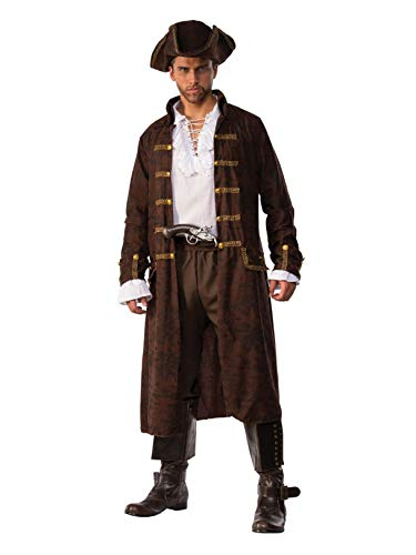 Xxl Pirate Costumes - Pizazz! Men's Captain Cutthroat Deluxe Costume,