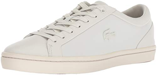 Off Sneaker White Straightset Leather Men's Lacoste FqHpOUn