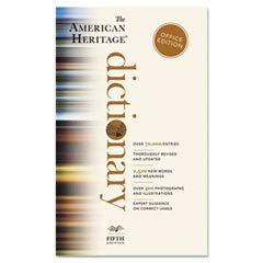 American Heritage Office Edition Dictionary, Paperback, 960 Pages