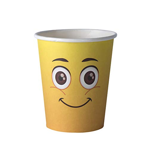 Emoji Party Supplies 9 oz Disposable Cups–Emoticon Party Favor Ideal for Birthday Decoration, Parties, Family Dinner, Special Events (50 Pack) -