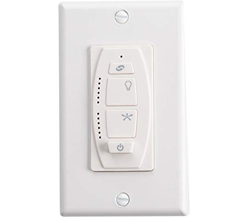 Kichler 370036WHTR Accessory 6-Speed DC Wall Transmitter, White Material (Not Painted) by KICHLER