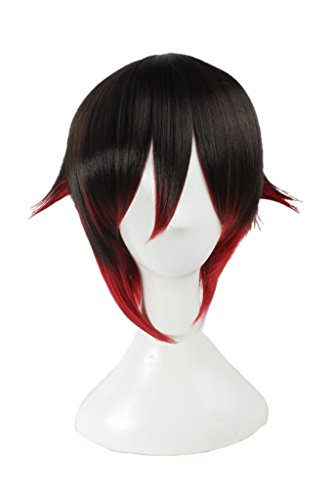 (DAZCOS Quality Women's Red Ruby Rose Lolita Cosplay Wig (Red))