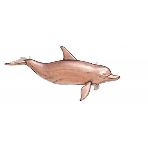 Swimming Dolphin Nautical Trade Sign like Weathervane Solid Copper with Hooks for ()