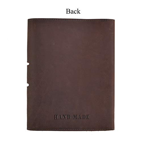 Personalized Leather Notebook Journal Refillable, with Pen Loop Writing Bound Diary Book for Men Women, Padfolio Unlined Paper Handmade Genuine Leather Travel Notepad Cover, 160 Pages A5 Customs Gift by Z'arte (Image #6)