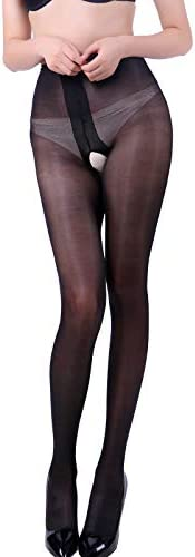 Laurels Crotchless Pantyhose Stockings Shimmery