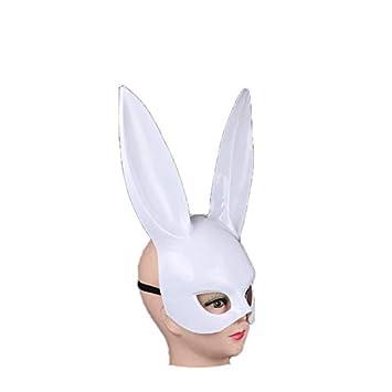 Jullyelegant Mujeres Conejo Conejo Orejas Largas Máscara Disfraz ...