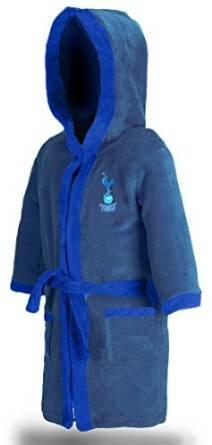 Boys Dressing Gown Hooded Fleece Football Tottenham Chelsea West Ham