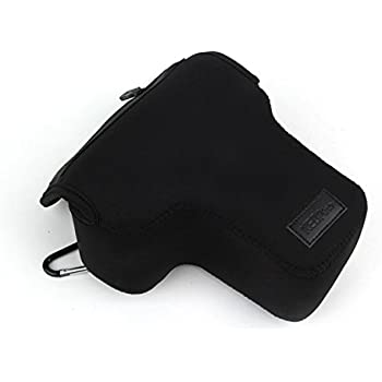 NEOpine NE-SLR-S Triangle Elastic Neoprene Camera Bag Protective Case for Nikon D3100 D3200 D5200 with 18-55mm Lens + MicroFiber Clean Cloth - Black