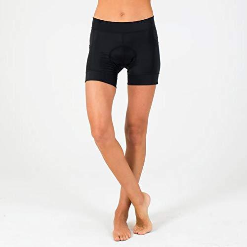 (SHEBEEST Women's Azalea Padded Cycling/Biking Short, Black, MD)