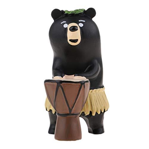 NATFUR Tiny Animal Status Dollhouse Miniatures Hand Painted Figurine-Hula Bear from NATFUR