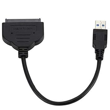 Jullyelegant Cable Adaptador SATA III de 22 Pines USB 3.0 a 2,5 ...
