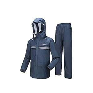 WEIFAN-raincoat Traje Resistente al Agua Hombres/Mujeres ...