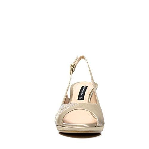 Bacta De Toi 309.400 Heel Sandal Satin Platinum PLATINUM 309 400
