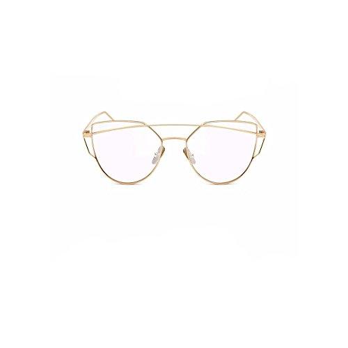 Oversize Metal Gold Frame Sunglasses Fire Frames - Red Label - Red Sunglasses Label