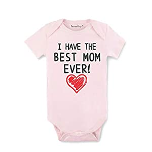 Gift for Mom – Mom is The Best Baby Bodysuit Mothers Day Infant Onesies 100% Cotton