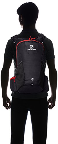 sélection premium 0fe43 38fc0 Amazon.com : Salomon Trail 20 Backpack, Black/Red : Sports ...