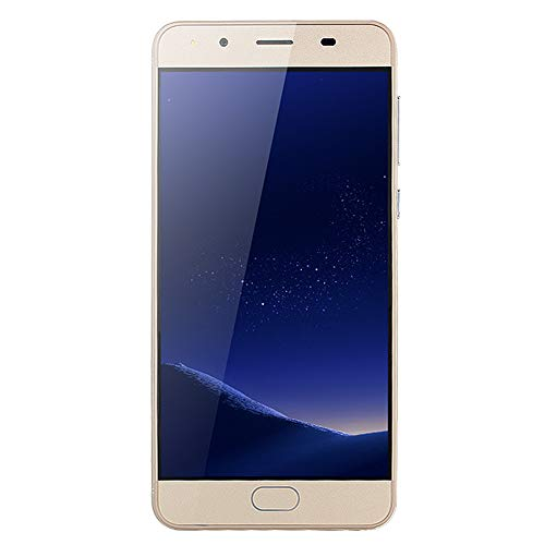 Unlocked 5.0'' Ultra-Thin Clear Screen Android Smartphone Worldwide Use - 5.1 Quad-Core GSM WiFi Dual SIM Dual Camera 2.0MP with Double LED Flash (Gold, 5.0