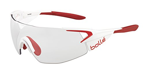 Bolle 5th Element Pro Sunglasses, Matte White/Red, Modulator Clear Gray oleo AF