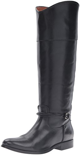 FRYE Women's Melissa Seam Tall Riding Boot, Black, 8 M - Ladies Boots Designer
