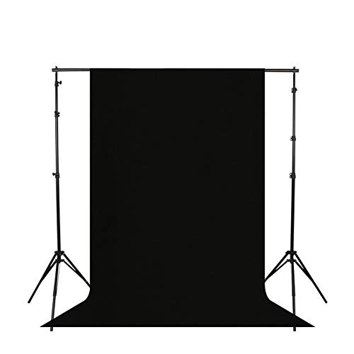 LDGHO Black 6x9 feet/1.8x2.8 Meters Photo Studio Polyester Fabric Backdrop Background for Photography, Video and Television (Background Only) (Black, 6 x 9 ft/1.8 x 2.8m) from Longda