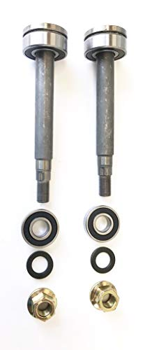 - Set of 2, Shaft Kits For 137646, 137645 Used on 130794 Spindles. Includes Shaft, Top & Bottom Bearing, Pulley Locknut, And The Very Important Spacer