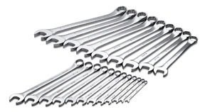 SK 86049 SuperKrome 21 Piece 12 Point 1/4-Inch to 1-1/2-Inch Long Pattern Combination Wrench Set