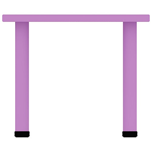 """2xhome - Purple - Kids Table - Height Adjustable 18.25'' - 19.25'' Rectangle Shape Child Plastic Activity Table Bright Color Learn Play School Home Fun Children Furniture Round Safety Corner 24""""x48'' by 2xhome (Image #3)"""