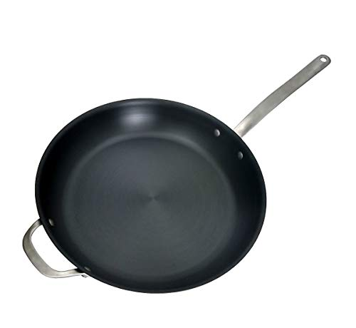 ICON Carbon Steel Dishwasher Safe Oven Safe Induction Safe Cookware- Made in the USA (14- Inch Skillet) (Best Thai Food In Usa)