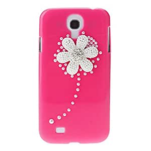 SHOUJIKE Embossed Chrysanthemum Pattern Hard Back Cover Case with Glue for Samsung Galaxy S4 I9500 , Pink