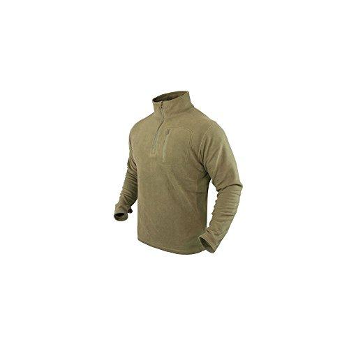- Condor 1/4 Zip Fleece Pullover Tan size M