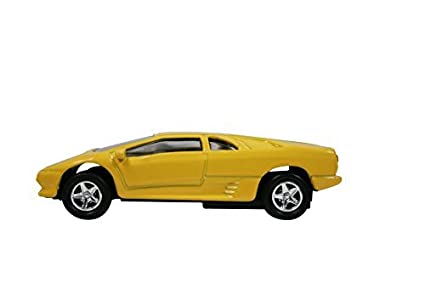 Amazon Com Maisto 1 64 Scale Lamborghini Diablo Key Chain Yellow
