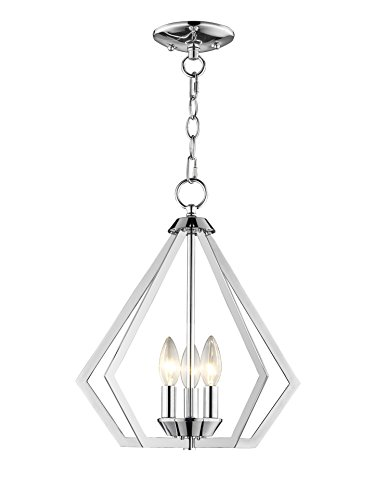 Livex Lighting 40923-05 Prism 3 Light CH Mini Chandelier Ceiling Mount, Polished Chrome