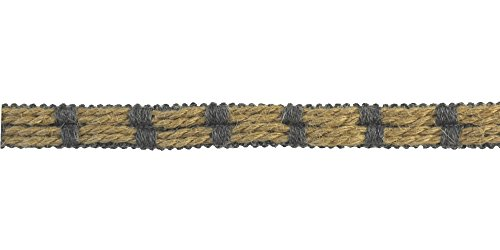 Jute Trim (BELAGIO Enterprises 3/4-inch Natural Jute Trim 10 Yards, Metal Grey)