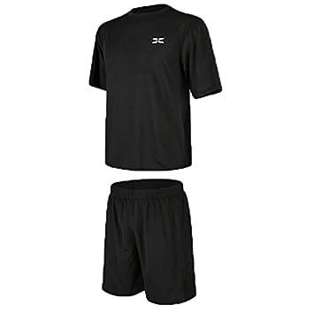 a20009820d9a Women's Sportsuit Set, 2 Pcs Men's Workout Clothes Set With Loose Short Sleeve  T-