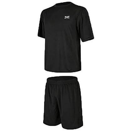 22fdff84be7eb Ropa Ciclismo Verano para Hombre Ropa de entrenamiento para hombre de 2  piezas con camiseta holgada