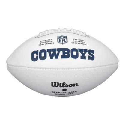 NFL Team Logo Autograph Football Dallas Cowboys (Wilson Nfl Game Logo Football)
