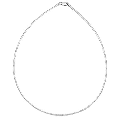 Sterling Silver 2.5mm Omega Chain (16 inch) ()