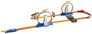 Mattel Hot Wheels CCJ26 - Doppel-Looping Superset, inklusive Beschleuniger