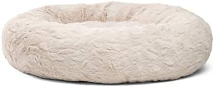 Best Friends by Sheri Donut Cuddler in Lux Fur Dog Bed/Cat Bed, 30