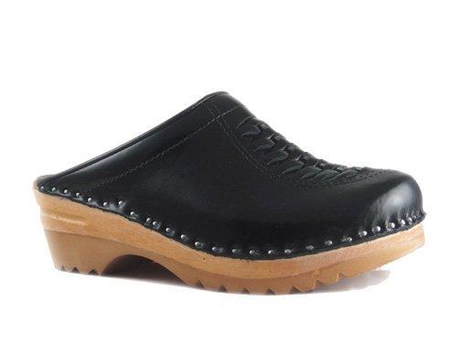 stad Unisex Clogs Leather Wright Troentorp Black B EZpqKA