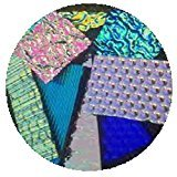 On Sale! Assorted Dichroic Glass Textures on Black 96 COE, 4 OZS.