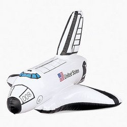 State Inflatable - United States Inflatable Space Shuttle Rocket Toy