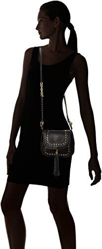 ESPRIT Mit Praktischem Innenleben, Bolso Bandolera para Mujer, Negro (001 Black), 8.5x19x22 cm (B x H x T)
