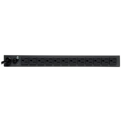 Tripp Lite Metered PDU, 15A, 13 Outlets (5-15R), 120V, 5-15P, 100-127V Input, 6 ft. Cord, 1U Rack-Mount Power (PDUMH15-6) by Tripp Lite (Image #1)
